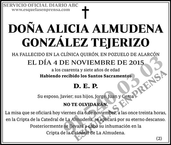 Alicia Almudena González Tejerizo